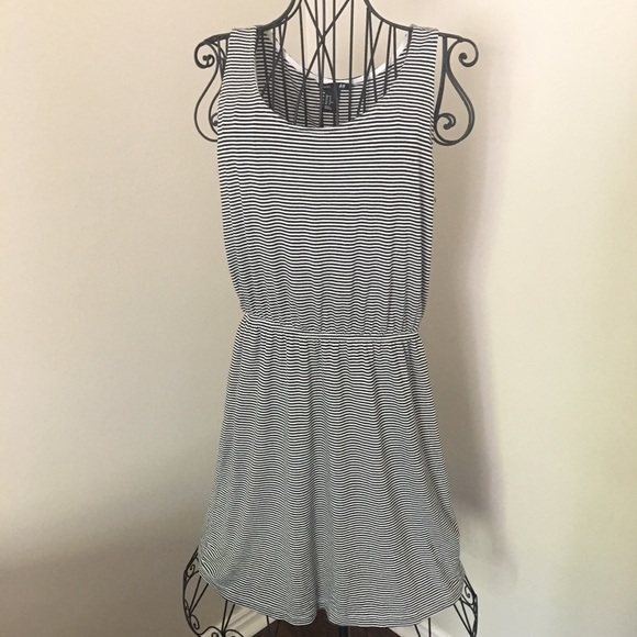 ecfd76b1c92 H&M Dresses   Hm Basic Striped Jersey Dress Black White Wms M   Poshmark